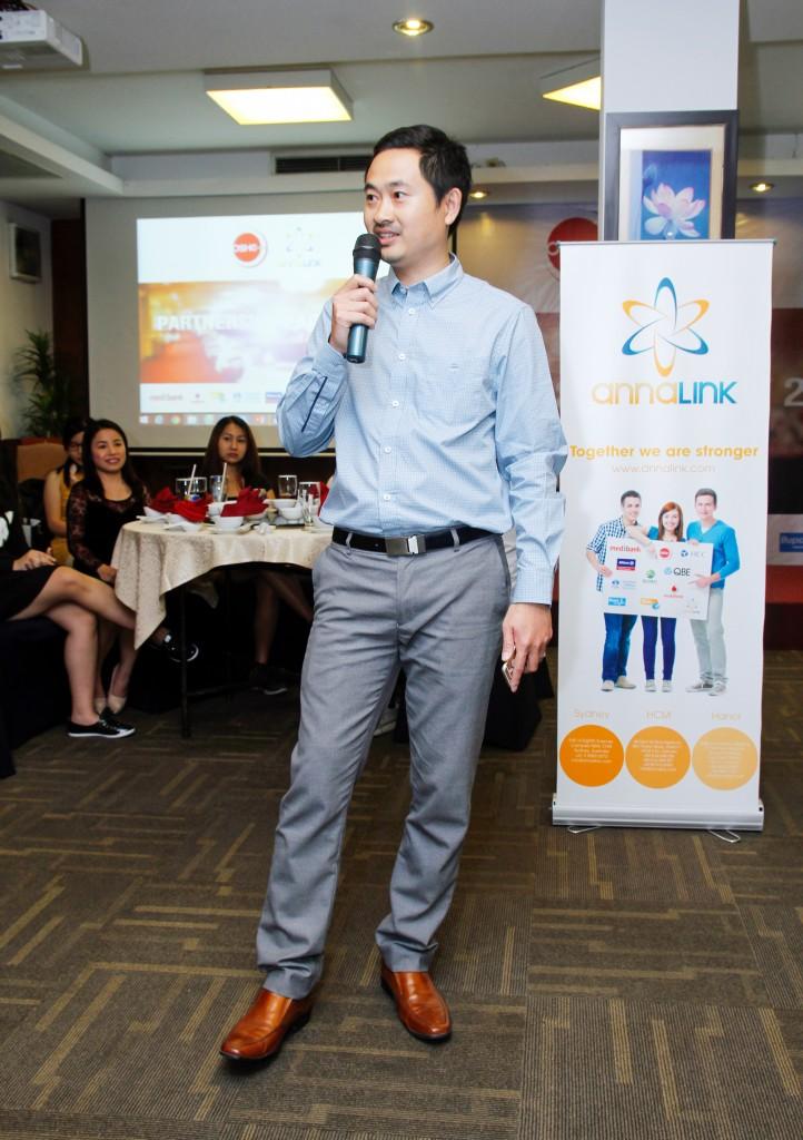 Ông Võ Đức Sơn - Giám đốc Công ty CP Annalink phát biểu tại chương trình.