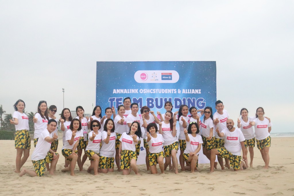 Team Building at My Khe beach - Da Nang is one of the extremely interesting activities included in the program